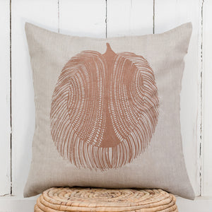Echidna - Handprinted Linen Cushion Cover