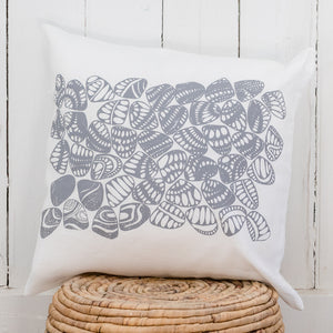 Eugaries - Handprinted Linen Cushion Cover