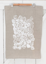 Load image into Gallery viewer, Eugaries - Handprinted Linen Tea Towel