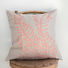 Load image into Gallery viewer, Blueberry Ash - Handprinted Linen Cushion Cover