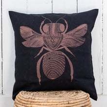 Load image into Gallery viewer, Sugarbag Bee - Handprinted Linen Cushion Cover