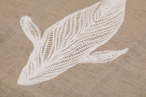 Migalu Yalingbilla (White Humpback) - Handprinted Table Runner
