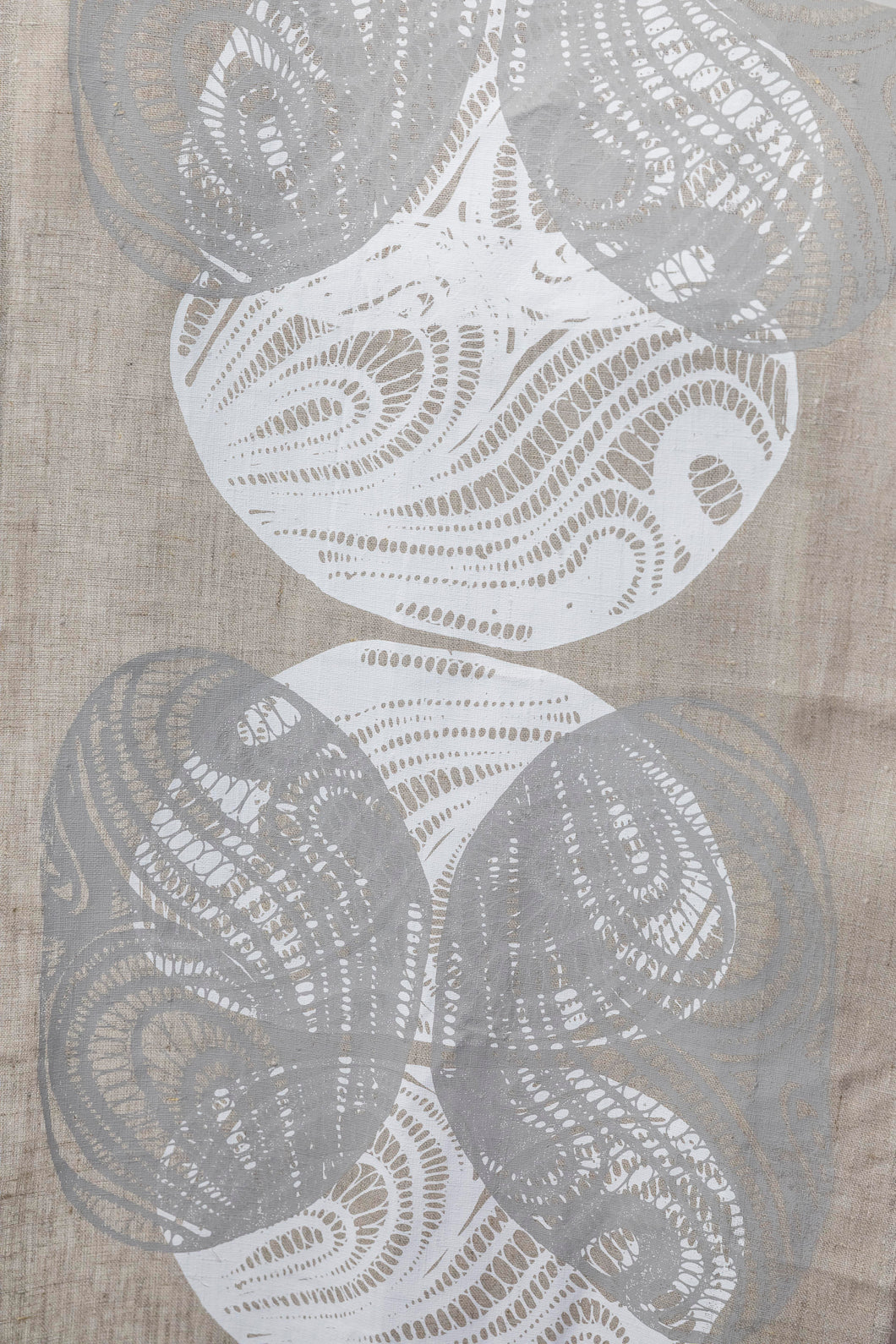 Kinyingarra (Oyster) - Handprinted Table Runner
