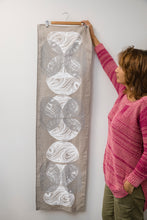 Load image into Gallery viewer, Kinyingarra (Oyster) - Handprinted Table Runner