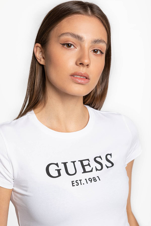 #00048  Guess tričko CREW NECK S/S O0BI02J1311-TWHT TRUE WHITE