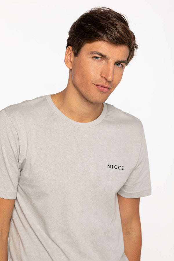 #00011  Nicce tričko CHEST LOGO T-SHIRT 001-3-09-02-0052 STONE GREY