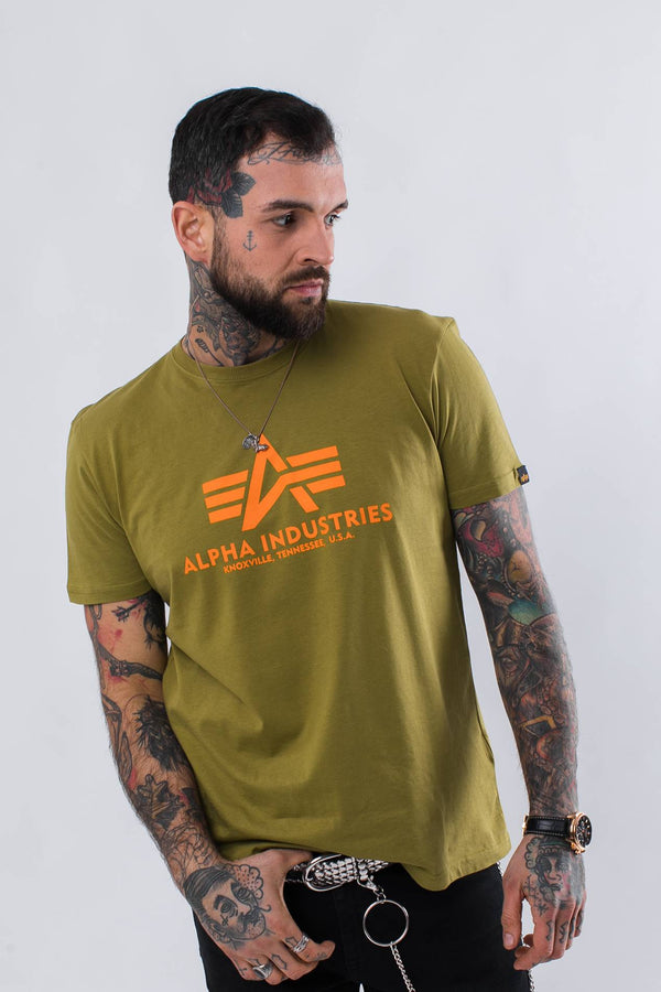#00158  Alpha Industries tričko BASIC T 440 KHAKI GREEN