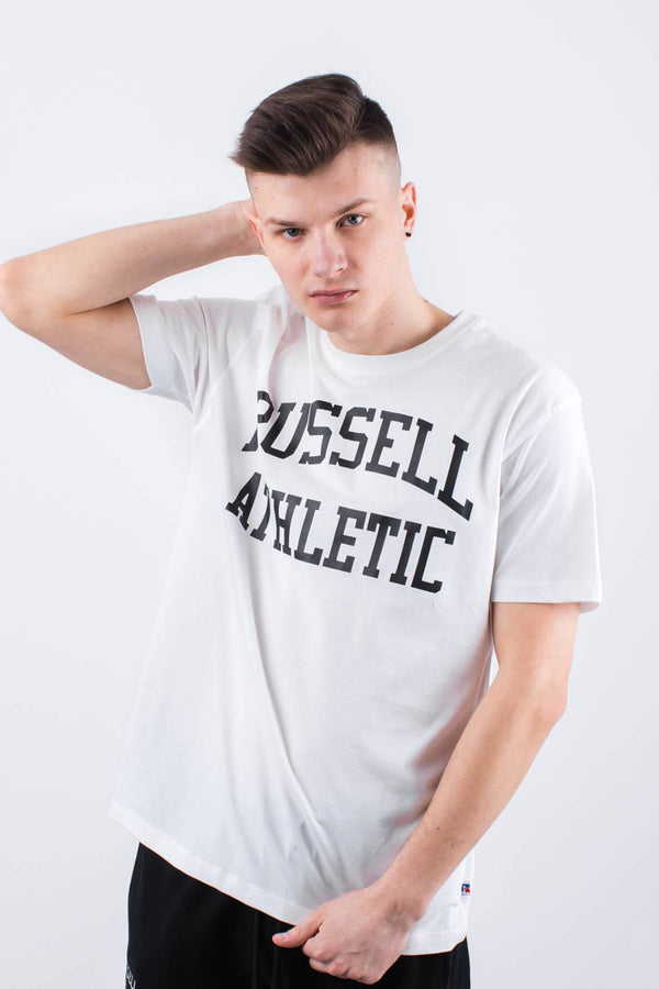 #00004  Russell Athletic tričko CREW NECK TEE 001 WHITE