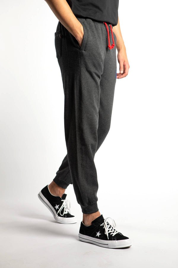 #00033  Russell Athletic oblečenie, nohavice ERNEST CUFF JOGGER 098 WINTER CHARCOAL MARL