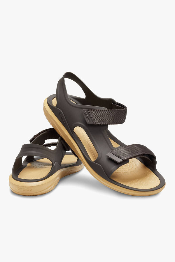 #00086  Crocs obuv, šľapky SANDAŁY SWIFTWATER MOLDED EXPEDITION SANDAL ESPRESSO/TAN 206526-2I1 ESPRESSO/TAN