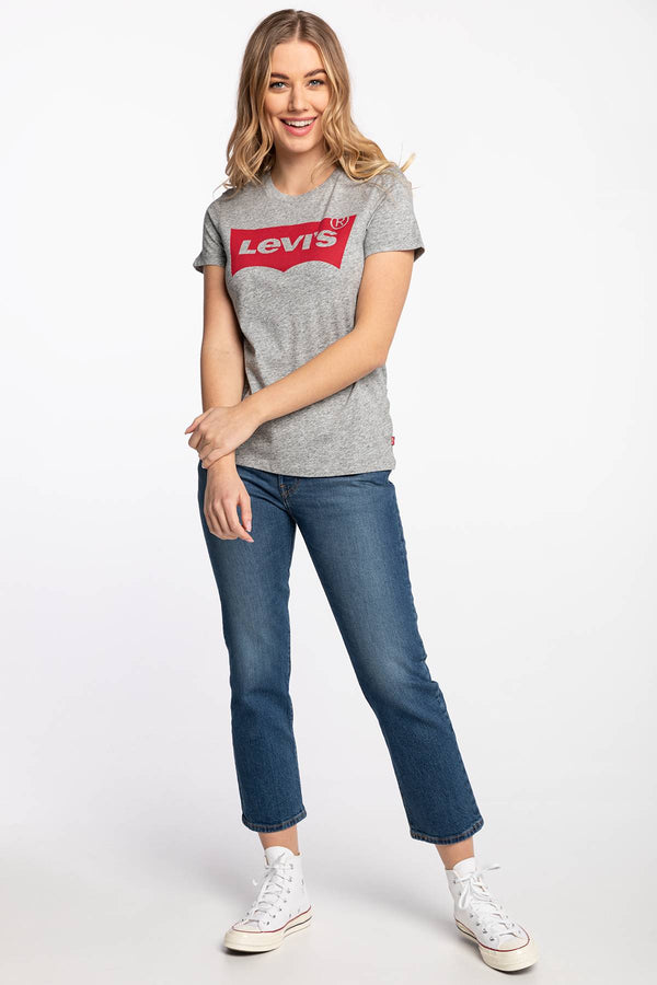 #00030  Levi's tričko THE PERFECT GRAPHIC TEE 0263 BETTER BATWING SMOKESTACK HEATHER