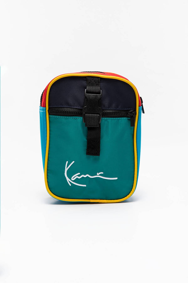 #00000  Karl Kani taštička TORBA/SASZETKA KK Signature Block Messenger Bag green 4002572 MULTICOLOR