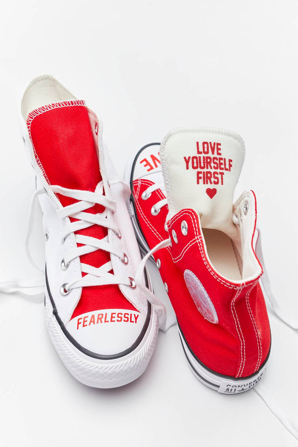#00193  Converse obuv, tenisky CHUCK TAYLOR ALL STAR HI 310 WHITE/UNIVERSITY RED/BLACK