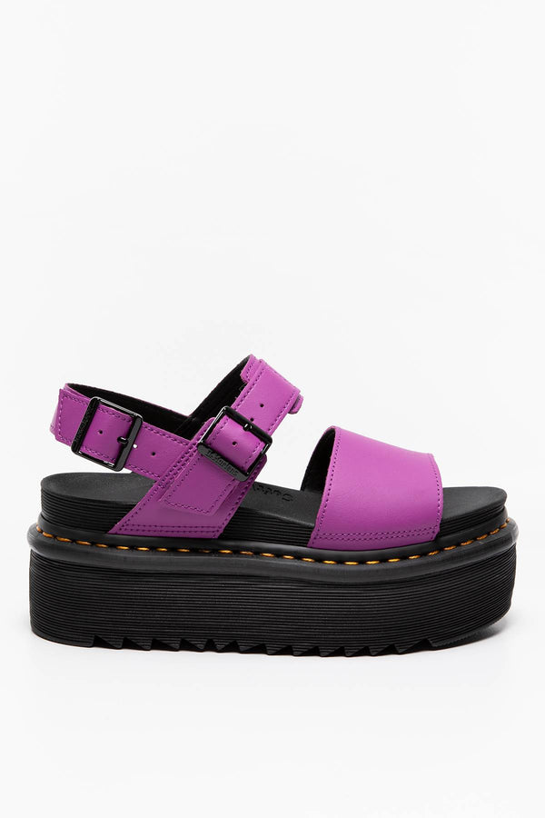 #00015  Dr.Martens obuv SANDAŁY Voss Quad Bright Purple Hydro PURPLE