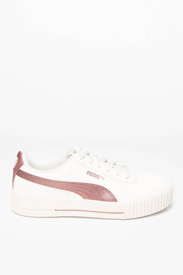 #00016  Puma obuv, sneakersy Carina Meta20 37322902 WHITE - ROSE GOLD