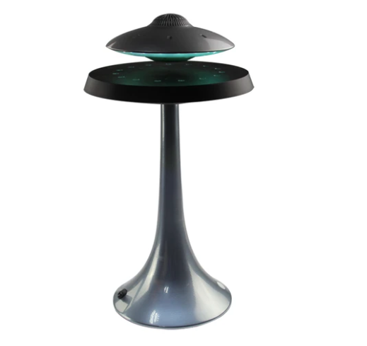 Levitation LED table lamp with UFO shape Bluetooth speaker