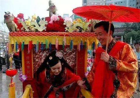 ombrelle rouge mariage chinois