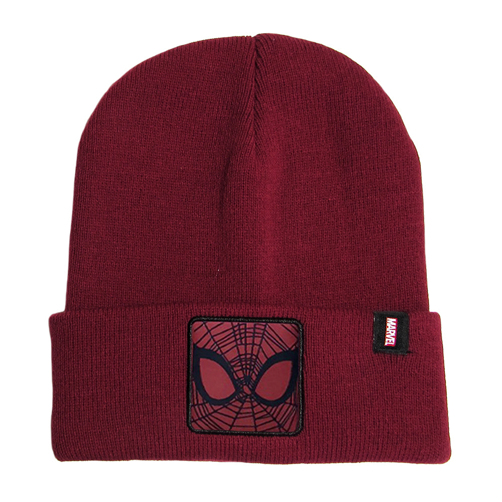 Gorro Lana Spiderman Burdeo