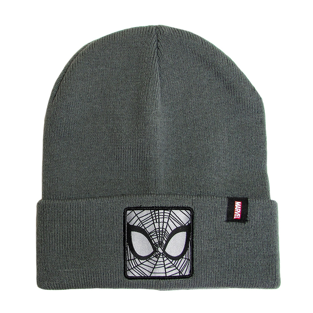 Gorro Lana Spiderman Gris