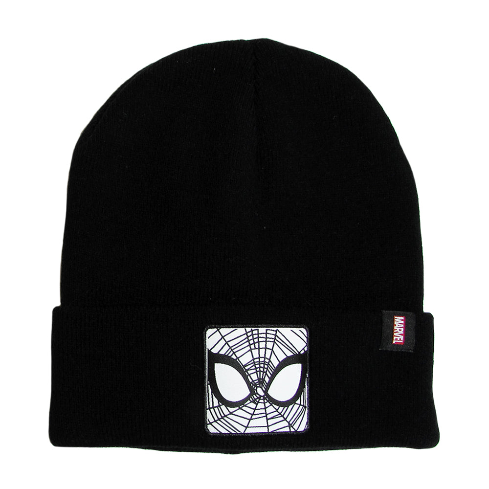 Gorro Lana Spiderman Negro