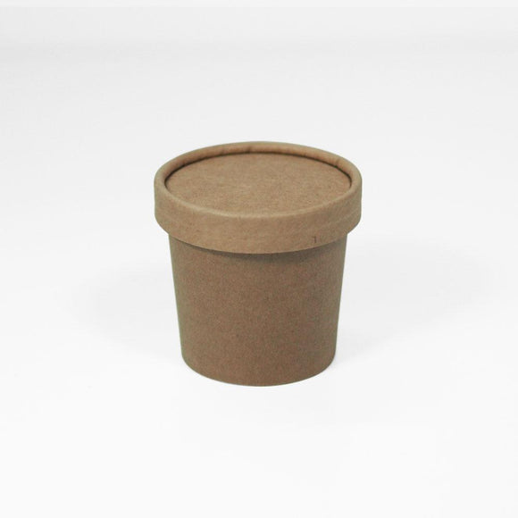 100-125ML BROWN ICE CREAM TUB (PL-TUBK-100) - 50PCS/ROLL