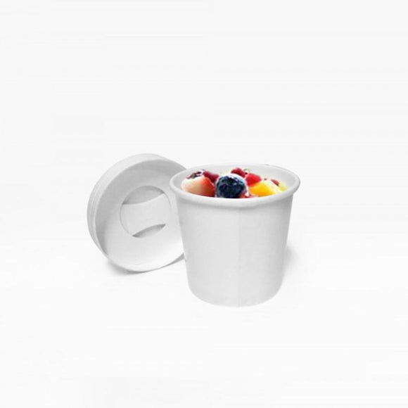 100-125ML WHITE ICE CREAM TUB (PL-TUBW-100) - 50PCS/ROLL