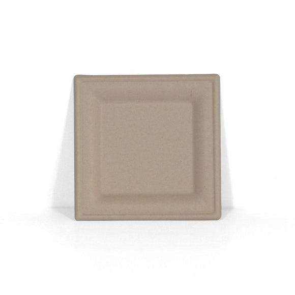 10'' WHEAT FIBRE SQUARE PLATE (BB-SP03) - 50PCS/PKT