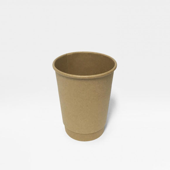 12OZ BROWN DOUBLE WALL CUP (PL-DWK-12OZ-TJJH) - 25PCS/ROLL