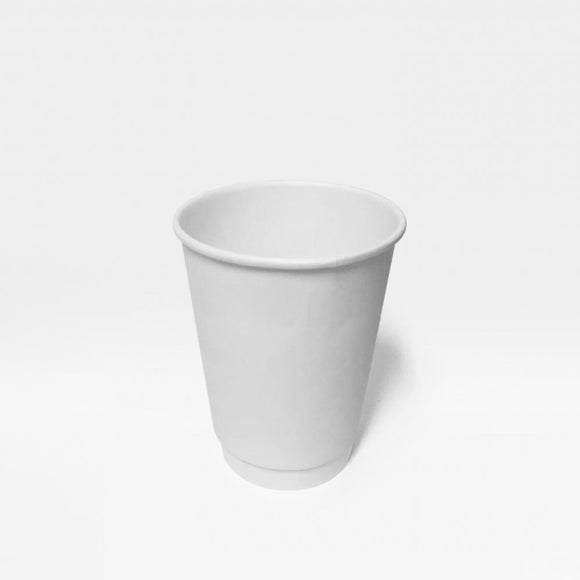 12OZ WHITE DOUBLE WALL CUP (PL-12OZ-DWC-W) - 25PCS/ROLL