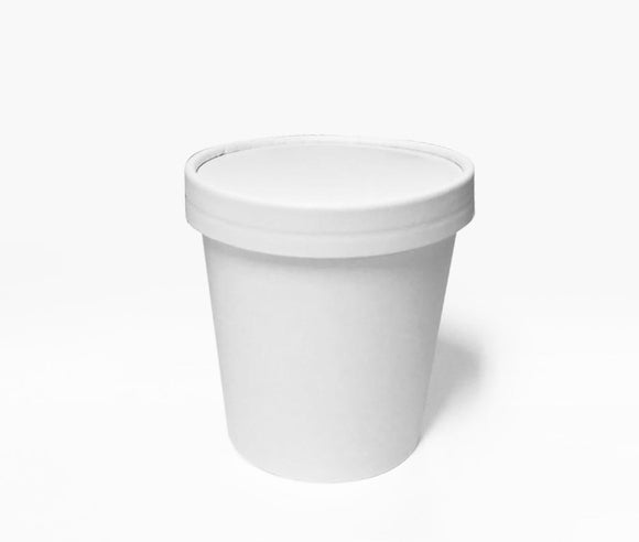 PAPER LID FOR 16OZ WHITE PINT (PL-LID-PINTTUB) - 25PCS/ROLL