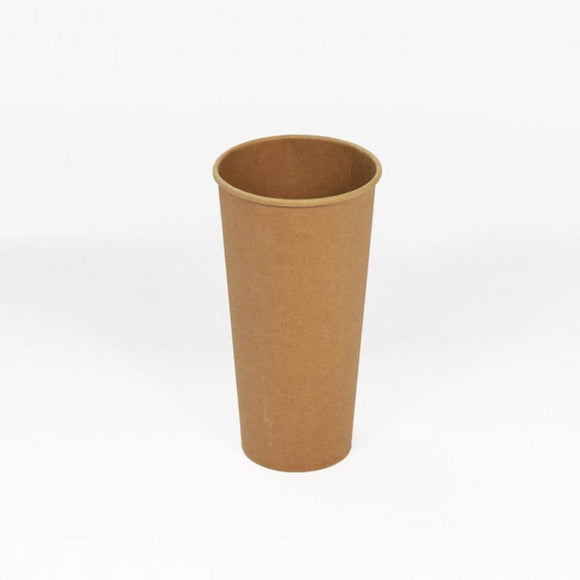 16OZ BROWN SINGLE WALL CUP (PL-16OZ-SWC-KR) - 50PCS/ROLL