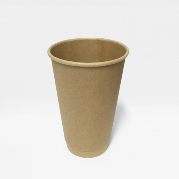 16OZ BROWN DOUBLE WALL CUP (PL-DWK-16OZ) - 25PCS/ROLL