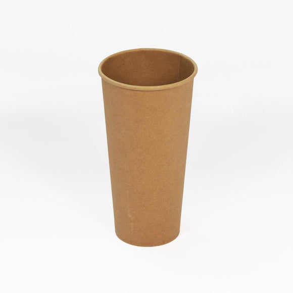 22OZ BROWN SINGLE WALL CUP (PL-22OZ-SWC-KR) - 50PCS/ROLL