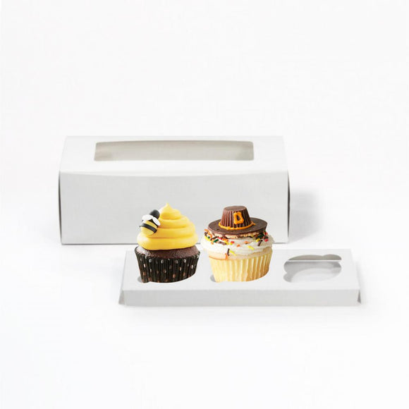 3PC CUPCAKE BOX (PL-CB-3PC-BUT) - 50PCS/PKT