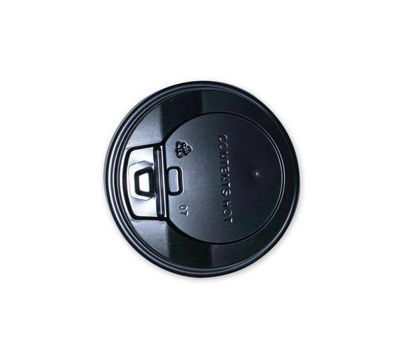 8OZ BLACK COFFEE LID (PL-8OZLID-BLACK-TJJH) - 50PCS/ROLL