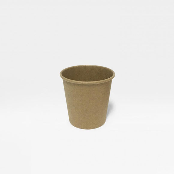 4OZ SINGLE WALL CUP KRAFT (PL-4OZ-SWC-KR) - 50PCS/ROLL