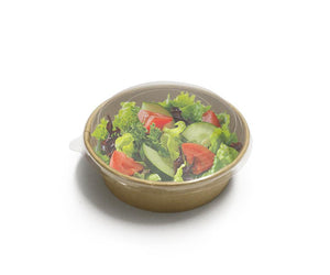 FLAT PET LID A FOR SALAD BOWL 500/750/1000ML (PSALPETLID-A SW) - 50PCS/PKT