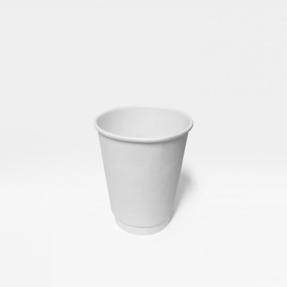 8OZ WHITE DOUBLE WALL CUP (PL-8OZDWCW) - 25PCS/ROLL