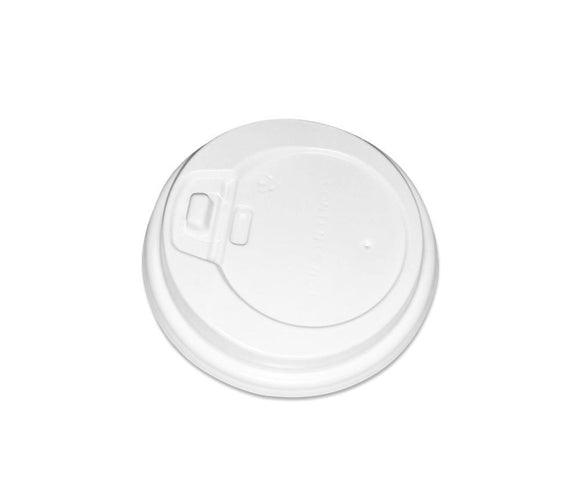 8OZ WHITE COFFEE LID (PL-8OZLID-W) - 50PCS/ROLL