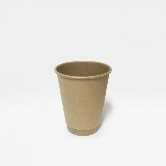 8OZ BROWN DOUBLE WALL CUP (PL-DWK-8OZ-TJJH) - 25PCS/ROLL