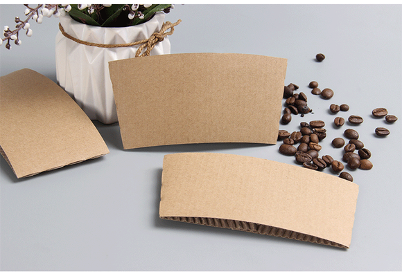12/16OZ BROWN COFFEE CUP SLEEVE (PL-12/16OZ-CSLK) - 25PCS/PKT