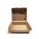 CLAMSHELL CORRUGATED DINNER BOX (CLAM-DBB-PU) - 50PCS/PKT