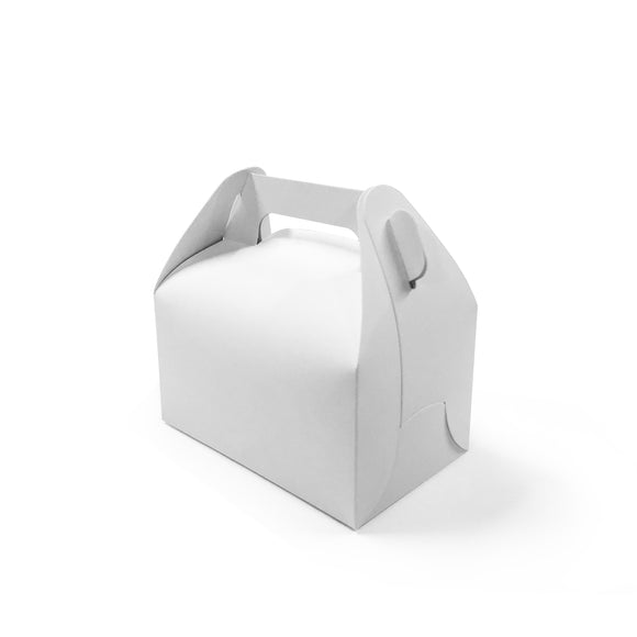 WHITE 11.5CM CAKE BOX W/ HANDLE (PL-CBHW-11.5-TJJS) - 10PCS/PKT