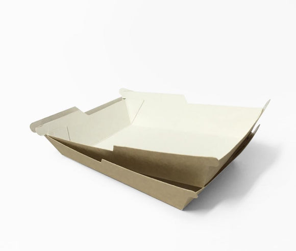 SYMMETRAY LARGE WESTERN FOOD TRAY KRAFT (D-SYM3KR) - 100PCS/PKT