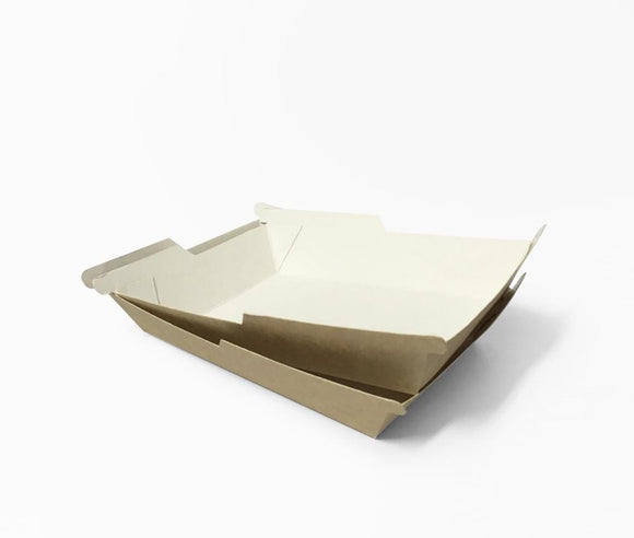SYMMETRAY MEDIUM WESTERN FOOD TRAY KRAFT (D-SYM4KR) - 100PCS/PKT