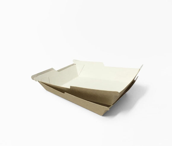 SYMMETRAY SMALL WESTERN FOOD TRAY KRAFT (D-SYM5KR) - 100PCS/PKT