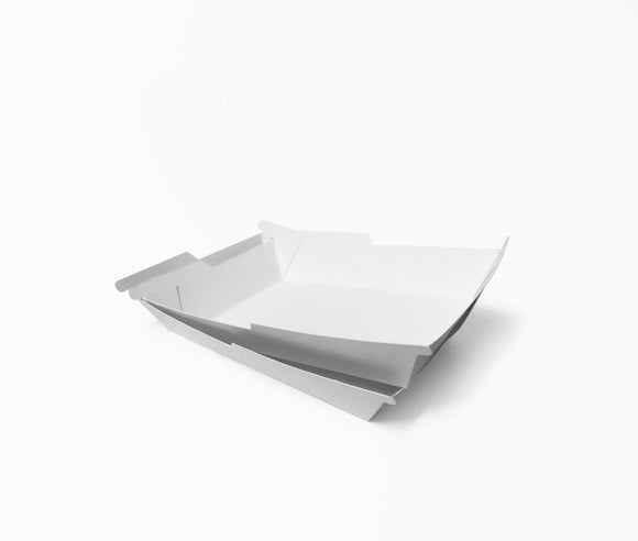SYMMETRAY SMALL WESTERN FOOD TRAY WHITE (D-SYM5W) - 100PCS/PKT