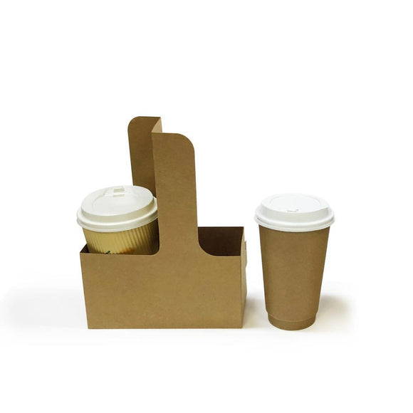 2 CUPS BROWN CARRIER (PL-CUPH1K-TJJS) - 20PCS/PKT