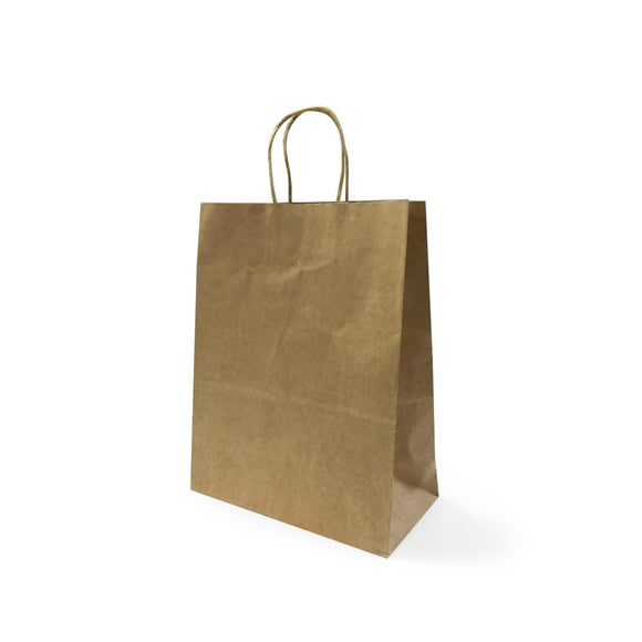 BROWN PAPER BAG 3A (PL-BPB3A-WZCB) - 25PCS/BUNDLE