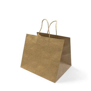 BROWN PAPER BAG 6A (PL-BPB6A-WZCB) - 25PCS/BUNDLE